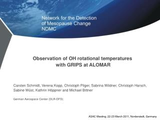 Observation of OH rotational temperatures  with GRIPS at ALOMAR