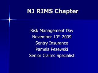 NJ RIMS Chapter