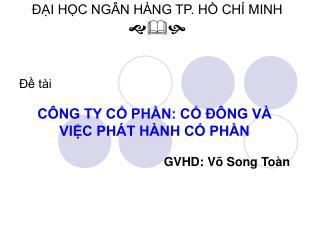 ??I H?C NG�N H�NG TP. H? CH� MINH ???