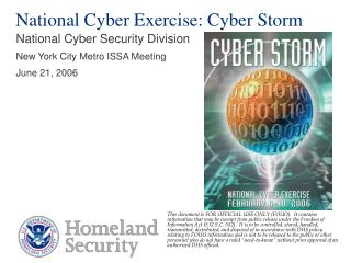 National Cyber Exercise: Cyber Storm