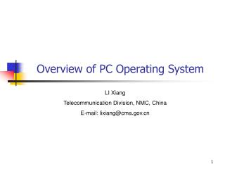 Overview of PC Operating System