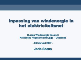Inpassing van windenergie in het elektriciteitsnet