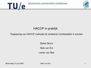 HACCP in praktijk