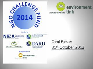 Carol Forster 31 st  October 2013