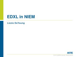 EDXL in NIEM