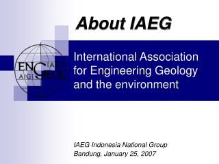 International Association for Engineering Geology and the environment