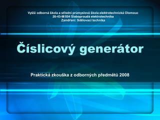 Číslicový generátor