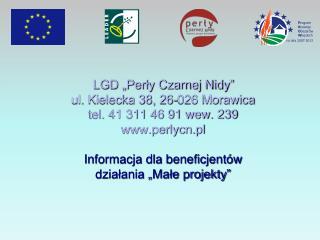 """""""Małe projekty""""    – podstawy prawne"""