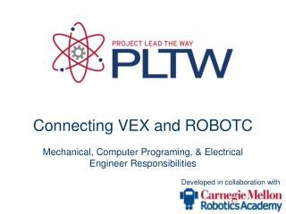 Connecting VEX and ROBOTC Mechanical, Computer Programing, & Electrical Engineer Responsibilities