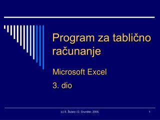 Program za tablično računanje