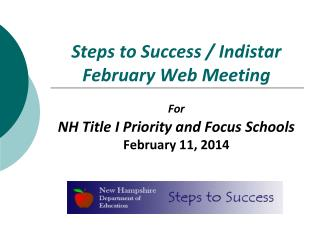 Steps to Success / Indistar February Web Meeting
