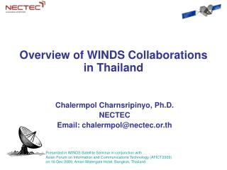 Overview of WINDS Collaborations  in Thailand