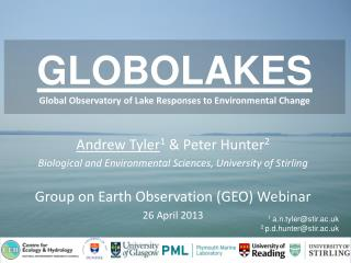 GLOBOLAKES Global Observatory of Lake Responses to Environmental Change