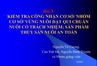 Nguyễn Tử Cương,  Cao Việt Hà, Nguyễn Đình Truyên
