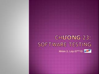 Ch ương  23: SOFTWARE TESTING