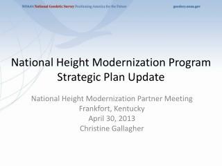 National Height Modernization Program Strategic Plan Update
