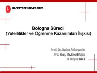Prof. Dr. Buket  Akkoyunlu Yrd. Doç. Dr.  Esed  Yağcı 9 Mayıs 2012