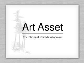 Art Asset For iPhone & iPad development