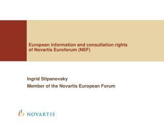 European information and consultation rights of Novartis Euroforum (NEF) 