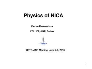 Physics of NICA