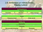 2.6. Arhitektura un maksla Senas Egiptes kultura
