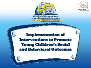 Implementation of Interventions to Promote Young Children's Social and Behavioral Outcomes