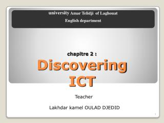 chapitre 2 : Discovering ICT