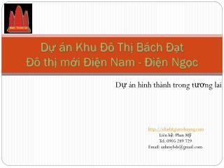 Dự án Khu Đô Thị Bách Đạt Đô thị mới Điện  Nam -  Điện Ngọc