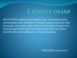 1  KONSEP DASAR