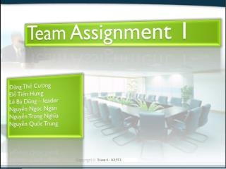 Team Assignment 1