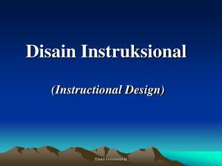 Disain Instruksional