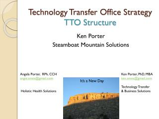 Technology Transfer Office Strategy TTO Structure