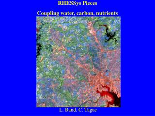 RHESSys Pieces Coupling water, carbon, nutrients