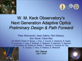 W. M. Keck Observatory's Next Generation Adaptive Optics Preliminary Design & Path Forward