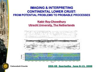IMAGING & INTERPRETING CONTINENTAL LOWER CRUST: FROM POTENTIAL PROBLEMS TO PROBABLE PROCESSES