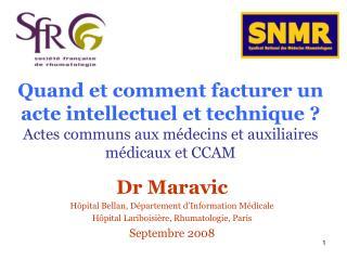 Dr Maravic Hôpital Bellan, Département d'Information Médicale