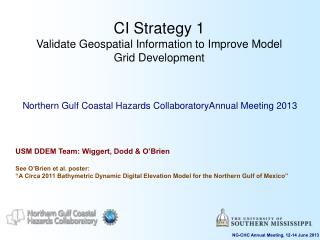CI Strategy 1 Validate Geospatial Information to Improve Model Grid Development
