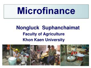 Nongluck  Suphanchaimat  Faculty of Agriculture  Khon Kaen University