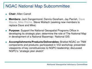 NGAC National Map Subcommittee