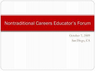 Nontraditional Careers Educator's Forum