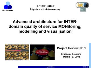 Advanced architecture for INTER-domain quality of service MONitoring, modelling and visualisation