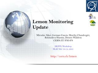 Lemon Monitoring Update