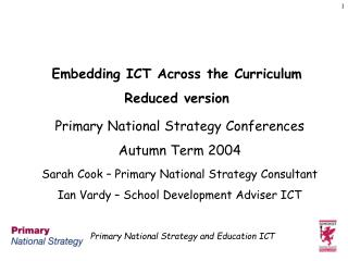 Embedding ICT Across the Curriculum Reduced version