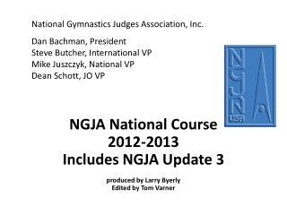 NGJA National Course 2012-2013