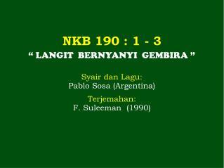 NKB 190 : 1 - 3