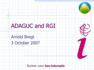 ADAGUC and RGI