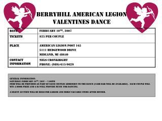 Berryhill American legion valentines dance