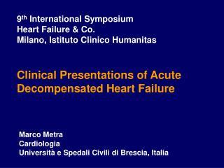 Marco Metra Cardiologia Università e Spedali Civili di Brescia, Italia