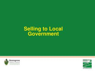 Selling to Local Government