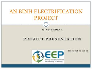 AN BINH ELECTRIFICATION PROJECT